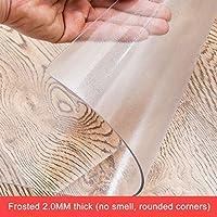 つや消し透明PVCプラスチックテーブルクロス/テーブルカバー、ピクニックテーブル、コーヒーテーブル、ガーデン、ストレージテーブルのため、耐スクラブ強い防水およびオイルすることができます (色 : A-2.0mm thick, Size : 85x135cm)