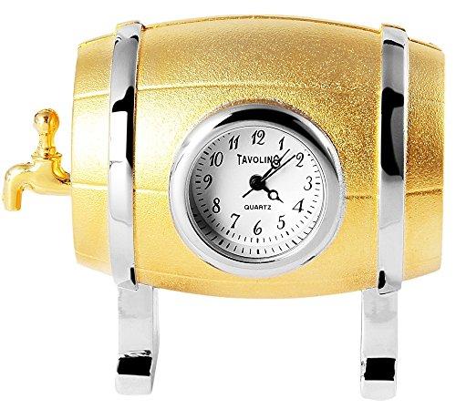 Reloj en miniatura tavolino - cerveza de barril - tamaño 5,5 cm