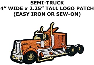 TRUCKER SEMI 18-WHEELER RIG TOW TRUCK TRUCK DRIVER PATCH SEW/IRON ON by I.E.Y.online-store