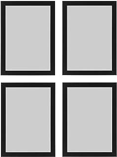 Ikea FISKBO, Lot de 4 Cadres Photo Noir A4 21 x 30 cm