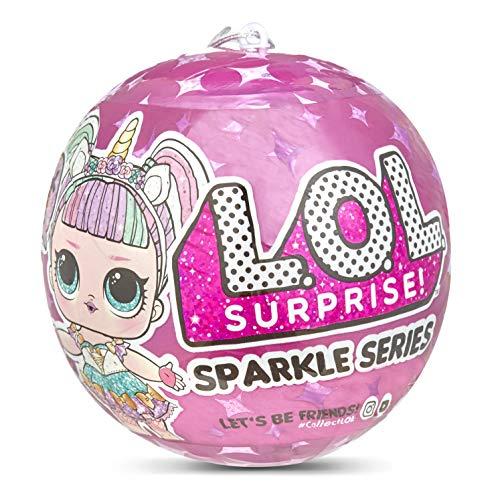 L.O.L. Surprise!, Surprise Doll Sparkle Series - Statuetta Da Collezione Con Glitter E 7 Sorprese, 1 Di 12 Bambole Da Collezione In Confezione A Sorpresa