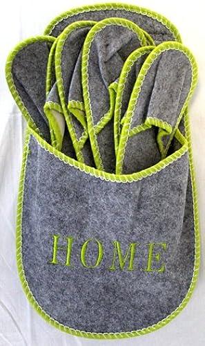 salida de fábrica COOLMINIPRIX Juego de 12 Set de 4Hauszapatos de de de Invitados Home gris Calidad  hasta un 65% de descuento