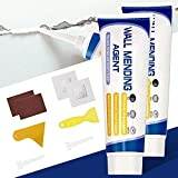 Spackle Wall Repair Kit, 2 Pack Safe Mend Wall Repair with 4' X 4' Wall Patch Repair Kit, for Quick Repair Crack and Hole Filler