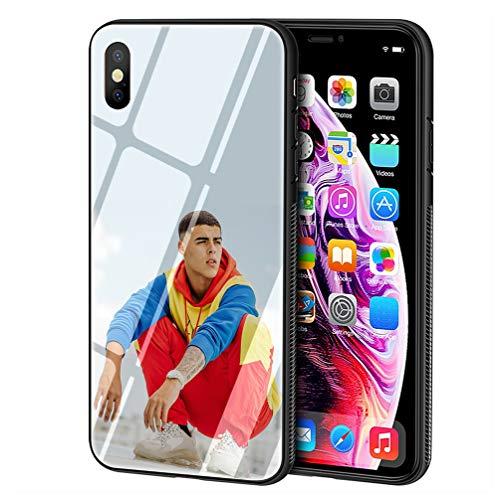 Carcasa de telefono Funda for iPhone 7/8 Cover,Vidrio Templado Suave Cubierta Anti-rasgu?os Compatible con for iPhone 7/8 Funda LB-145 Singer Lunay Phone Case