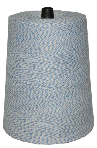 T.w. Evans Cordage 07–043 Poly panaché Cône de 0,9 kilogram, 9600-feet, Bleu et blanc