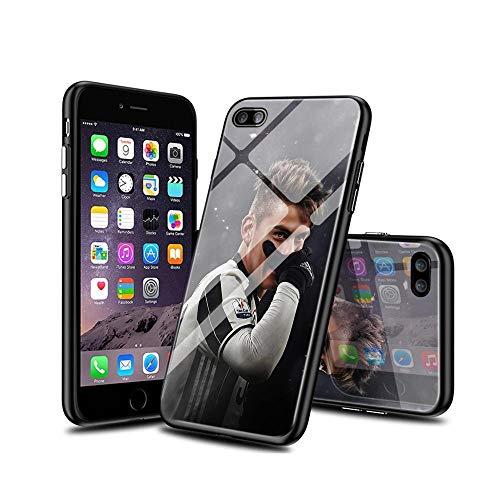 VSoUGMESa #005C iPhone 7 Funda, iPhone 8 Funda, Carcasa con Dibujos Animados Diseño [Bordes en Suave TPU Silicona] Híbrida Tempered Vidrio Case para iPhone 7 / iPhone 8 VSGW#005