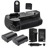 Battery Grip Bundle F/Nikon D7100, D7200: Includes MB-D15 Replacement Grip,...