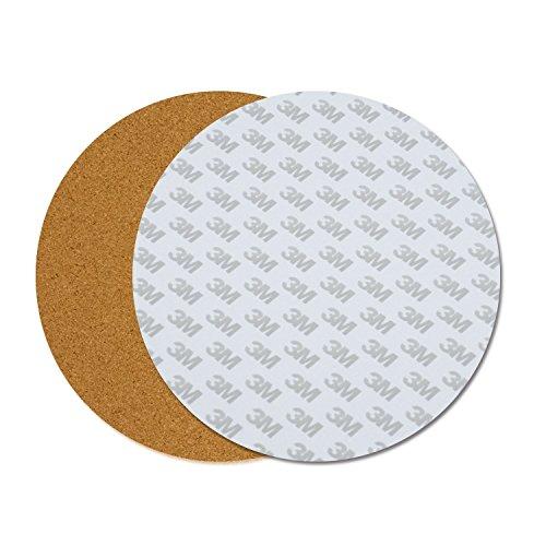 ILS - 300 * 3 mm ronde verwarmde bedverwarming kussen isolatie katoen met kurk lijm voor 3D-printer Reprap Ultimake