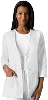 Cherokee womens 3/4 Sleeve Embroidered Jacket Medical Scrubs Jacket