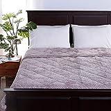 Berkshire Blanket VelvetLoft Braided Reversible Comforter   Pearly Grey   Twin (60' x 90')