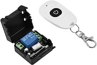 Focket Draadloos relais, DC 12 V 315 / MHz automatische schakelaar relaismodule ontvanger met RF-schakelaar met afstandsbe...