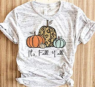 It's Fall Y'all Shirt, Hello Fall T-shirts for woman,Bonfires,Smores,Leaves,Apple ciders, Autumn Shirt, Fall Shirts, Thanksgiving,Women's Graphic Tee, Fall T-shirt