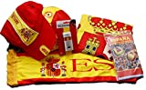 EUROXANTY Lote de la Selección Española | Bandera de España 90x150cm / Pintura de Cara/Gorra/Pelota/Bufanda para Coche + Regalo Sorpresa de España