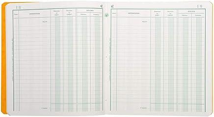 Exacompta - 950E - Registres et Piqures - Position de Compte - 80 Pages - Aleatoire