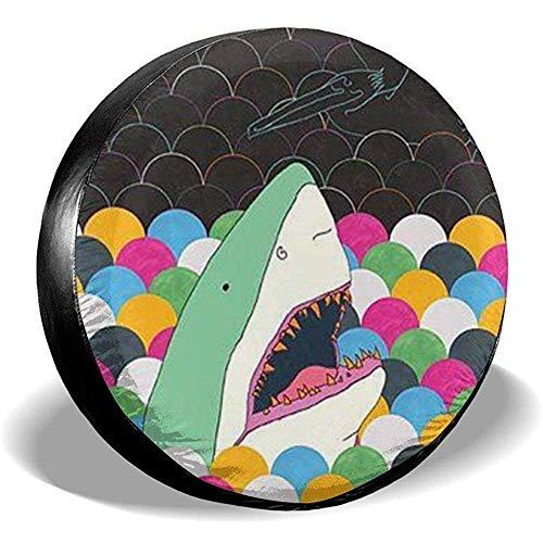 Drew Tours Shark and Mermaid Bufflao Plaid Reserveradabdeckung Universal Truck Wheel Reifenschutz Für SUV Trailer Rv Truck Wheel