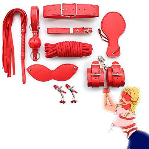 BÕNDAGER Kit de salud, color rojo nèro 5m Cuerda 8 piezas