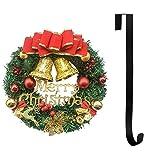 7WUNDERBAR Weihnachtskranz Türkranz Weihnachtsdeko Weihnachtsdekoration für Tür und Fenster außen Deko Wandkranz Kranz Girlande ca. 30 cm mit Kranzaufhänger (Rot)