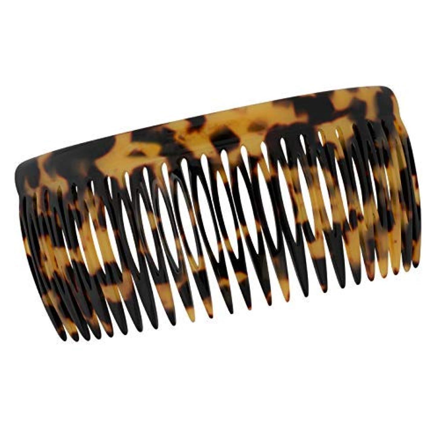 個人こしょう過度のCharles J. Wahba Long Classic Long Side Comb - 24 Teeth - Handmade in France (Tokyo Tortoise Color) [並行輸入品]
