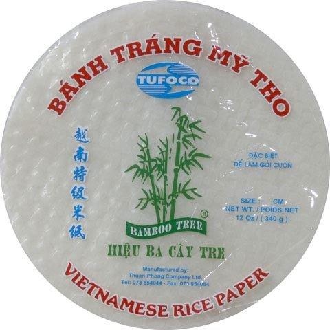 Rollo de papel de arroz vietnamita redondo 28 cm 340 g de