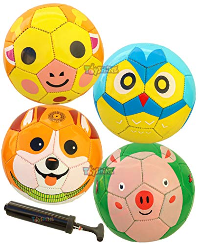 Toyshine Edu-Sports 4 in 1 Kids Football Soccer Educational Toy Ball, Size 1, 2-5 Years Kids Toy Gift Sports - Giraffe, Dog, Pig, Owl