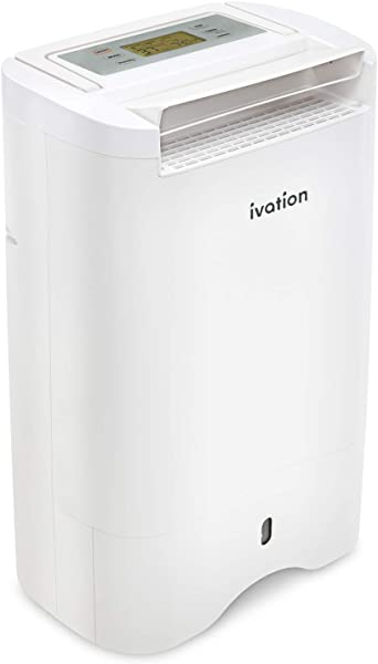 Ivation 19 Pint Small Area Desiccant Dehumidifier Compact And Quiet With Continuous Drain Hose For Smaller Spaces Bathroom Attic Crawlspace And Closets For Spaces Up To 410 Sq Ft
