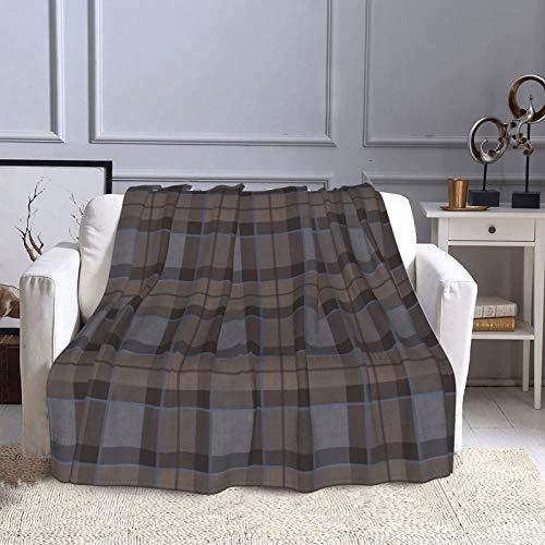 KCOUU Couverture polaire 127 × 152 cm Fraser Chasse Plaid Outlander Plaid Doux Chaud Couverture décorative pour canapé, lit, canapé, voyage, maison, bureau, toutes saisons