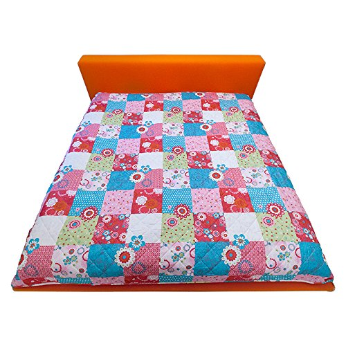 Decke Kinderdecke Babydecke Krabbeldecke Tagesdecke Patchwork Bettüberwurf 210x280 cm bunt