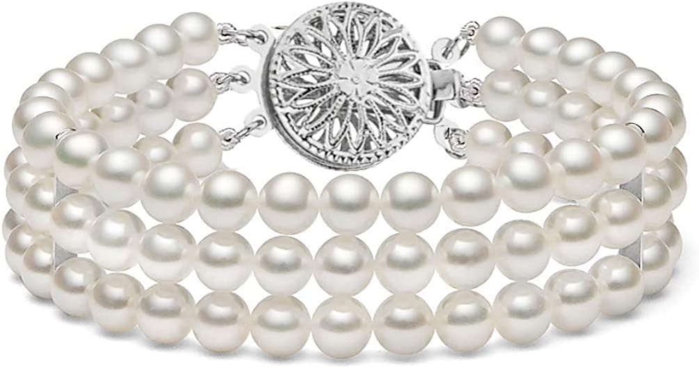Triple quality assurance Strand AAAA Quality Mail order White Brace Cultured Pearl Freshwater