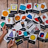★ Size:6 INCH BY 6 INCH This is a small fun activity box with 32 big size cards!They are in pairs basically- one shape and one object of that shape.You need to mix them all on a flat surface and let the child explore the different shapes and their pa...