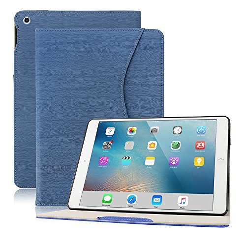 iPad 2018/2017 専用 ケース DINGRICH iPad 9.7 ケース (第5世代 第6世代通用) 高品質PUレザー ペンホルダ...
