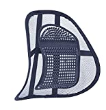 Air Flow Lumbar Support Cushion for Car Seat or Chair Back Rest