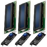 AZDelivery 3 x HD44780 16x2 Modulo LCD Display Bundle con Interfaz I2C 2x16 Caracteres compatible con Arduino y Raspberry Pi con E-Book incluido! (con Fondo Azul y Caracteres Blancos)