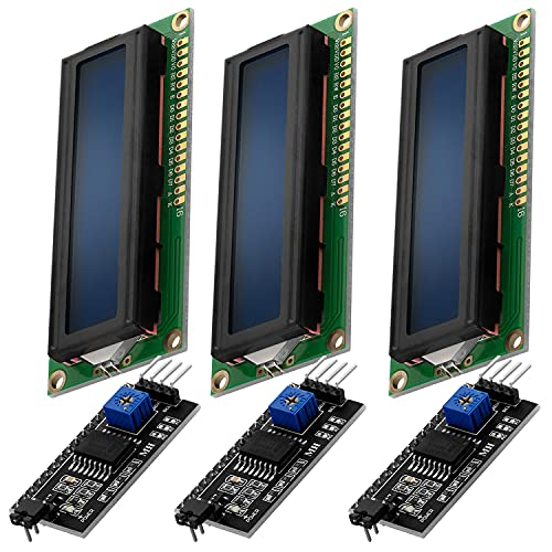 AZDelivery 3 x HD44780 16x2 LCD Modul Display Bundle mit I2C Schnittstelle 2x16 Zeichen kompatibel mit Arduino und Raspberry Pi inklusive E-Book! (mit Blauem Hintergrund und Weißen Zeichen)