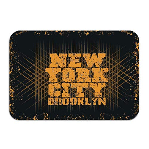 Bikofhd Outside Shoe Non-Slip Color Dot Fußabtreter New York Sport Sport Design New York Fashion Typography Stylish Printing Design Sportswear Apparel Mats Entrance Rugs Carpet 16 24 inch