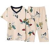 DFDLNL Conjunto de Pijamas de algodón Puro Completo para Mujer, Pijamas...