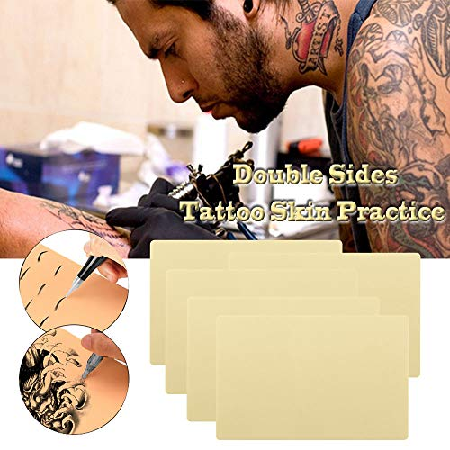 """Romlon Tattoo Skin Practice - 6Pcs Tattoo Practice Skin 8x12"""" 1.2MM Tattoo Skin Double Sides Soft Silicone Pads Tattoo and Microblading Practice skin for Tattoo Artists Tattoo Supplies …"""