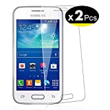 NEW'C 2 Unidades, Protector de Pantalla para Samsung Galaxy Ace 4 LTE (G313), Trend 2, Vidrio Cristal Templado