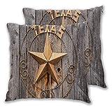 CANCAKA Kissenbezug,Altes Texas-Sternzeichen auf Holzzaun nahe Moab Utah,2er Set Kissenbezüge Dekorative Kissenhülle Kopfkissen Sitzkissen Dekokissen Couchkisen Schlafzimmer 45X45cm