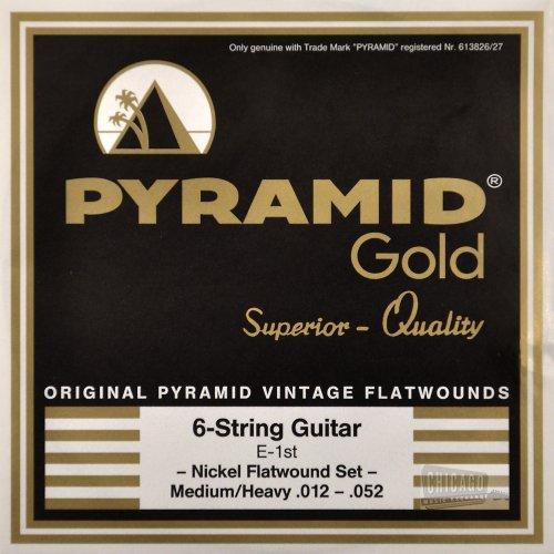 Pyramid Gold Flatwound Medium/Heavy Electric Guitar Strings 12-52