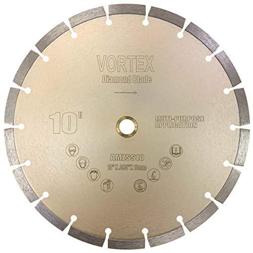 Cyclone VSS 10 inch Dry or Wet Cutting General Purpose Power Saw Segmented Diamond Blades for Concrete Stone Brick Masonry (10