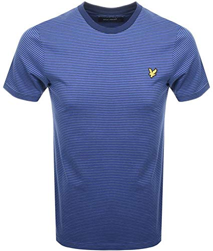 Lyle & Scott Herren Feeder Stripe T-Shirt, Blau (Duke Blue J), L