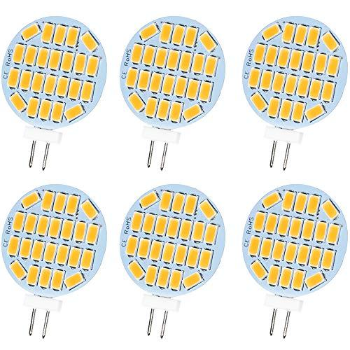 Jenyolon G4 LED Warmweiss Lampen 3W AC/DC 12V, 3000K, 400Lm, Ersatz für 30W Halogenlampen Glühlampen, LED G4 klein Stiftsockellampe Leuchtmittel Birne Licht, 120°Abstrahlwinkel, 6er Pack