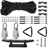 Kayak Anchor Trolley Kit System w/Pulleys Deck Loops...