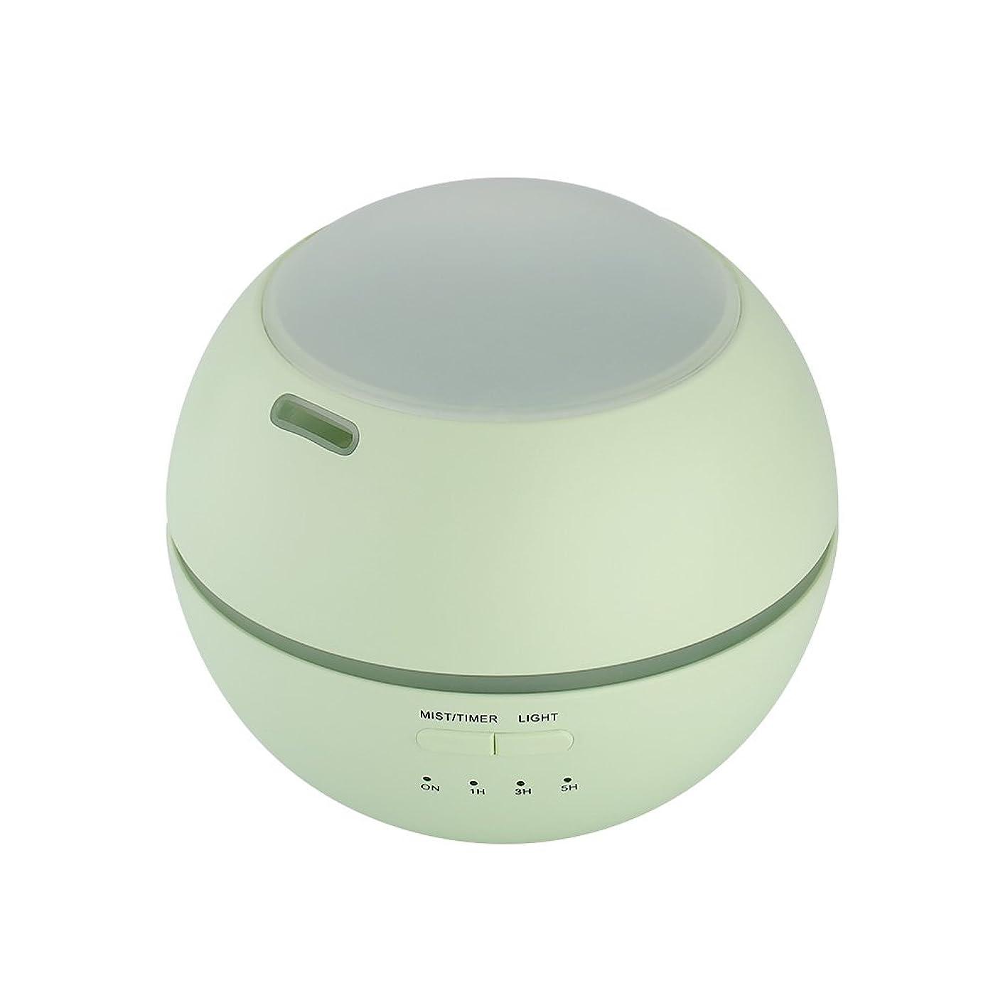 レビュー欺すり超音波式 アロマディフューザー 卓上 加湿器 8色LEDライト変換 超静音 ミス調整可能 時間設定タイマー機能付き 空焚き防止機能搭載 アロマ加湿器 150mL by smartlife (グリーン)