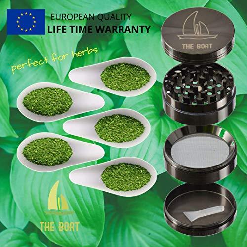 Product Image 7: Bong Cristal THE BOAT - VERONICA 13 cm - Con percolador + Grinder + Bowls + Accesorios. Hecho a mano - Para su uso en tabaco.