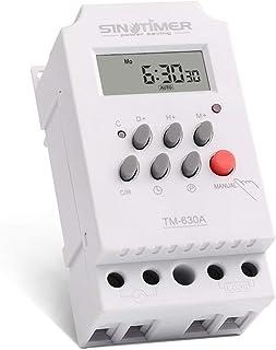 Heaviesk Timer Switch 12V 30A Semanal 7 días Interruptor de tiempo digital programable Control del temporizador