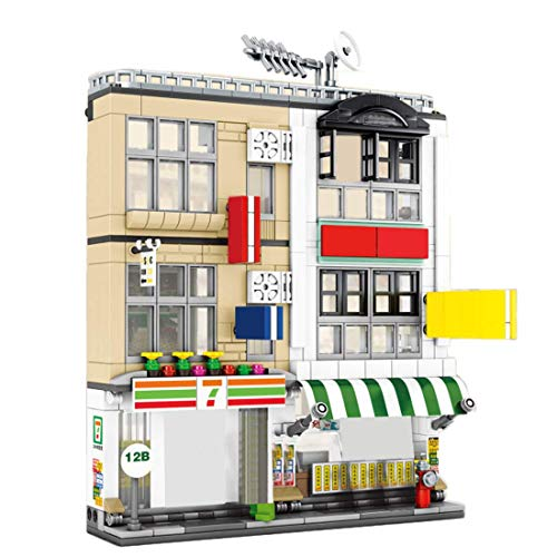 LINANNAN Architektur Bausteine ​​Modell, 552 + PC City Restaurant City House Street View Townhouse Toy...