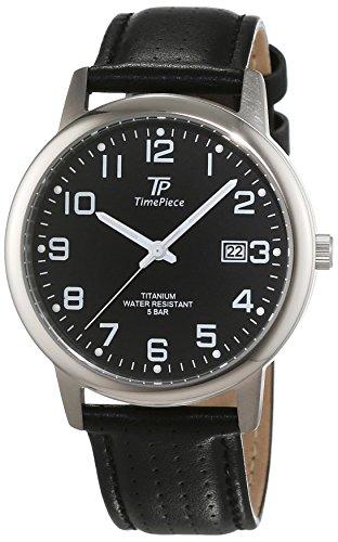 Time Piece Orologio da polso da uomo Titan al quarzo in pelle tpgt 50328–22L