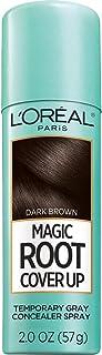 L`Oreal Paris Magic Root Cover Up Gray Concealer Spray Dark Brown 2 oz.