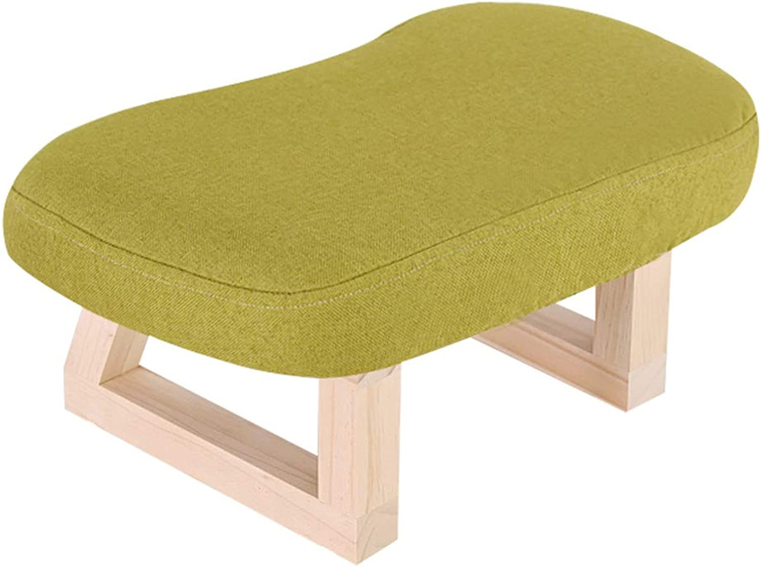Stool - shoes Bench, Home Sofa Bench, Solid Wood Adult Stool Retro Fabric Bench